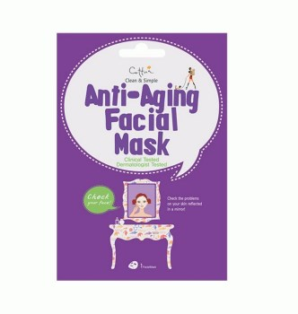 Vican Cettua Clean & Simple Anti-Aging Facial Mask Μάσκα Θρέψης με 4 Θαλάσσια Συστατικά 1τμχ