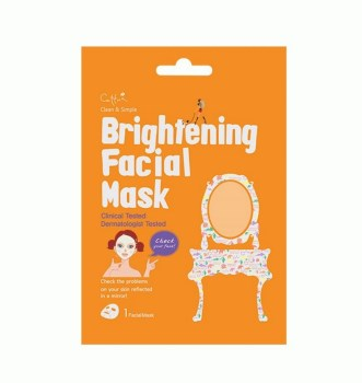 Vican Cettua Clean & Simple Brightening Facial Mask Mάσκα Λάμψης Προσώπου με 5 Συστατικά White Flower 1τμχ