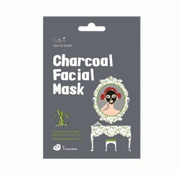 Vican Cettua Clean & Simple Charcoal Facial Mask Μάσκα από Ξυλάνθρακα Μπαμπού και Φυτικά Εκχυλίσματα 1τμχ