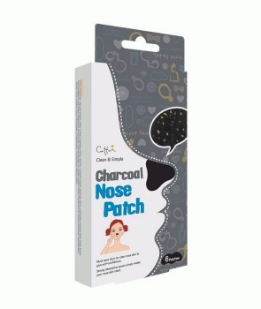 Vican Cettua Clean & Simple Charcoal Nose Strip Επιθέματα για τη μύτη με βάση τον ενεργό Άνθρακα 6τμχ