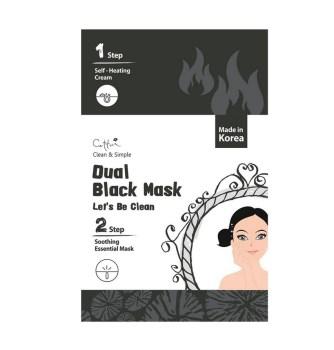 Vican Cettua Clean & Simple Dual Black Mask Μάσκα Προσώπου για Βαθύ Καθαρισμό & Αναζωογόνηση 1τμχ