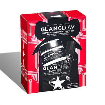 Glamglow Instant Rejuvenating Glow Set Youthmud Mask 50gr & Youthpotion Serum 10ml & 3x Bubblesheet Oxygenating Cleanse Mask