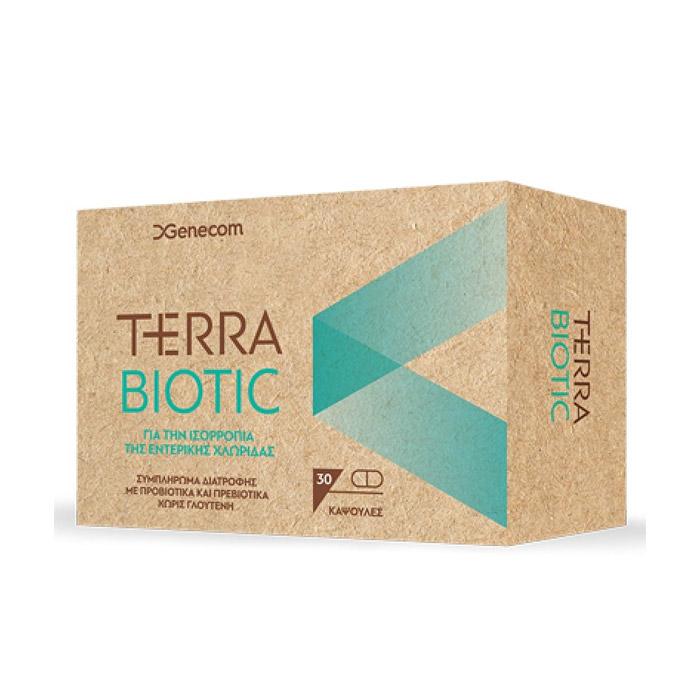 Genecom Terra Biotic για την Ισορροπία της Εντερικής Χλωρίδας 30 Κάψουλες