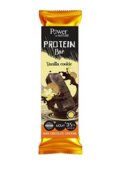 Power Of Nature Protein Bar Vanilla Cookie 60gr (Μπάρα Πρωτεΐνης με Σοκολάτα-Βανίλια)