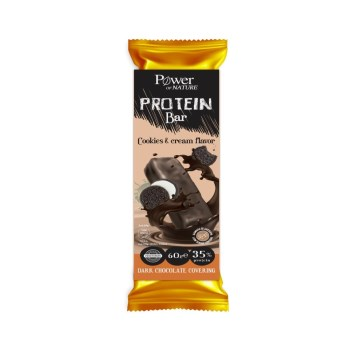 Power Of Nature Protein Bar Cookies & Cream 60gr (Μπάρα Πρωτεΐνης με Μπισκότα & Κρέμα)