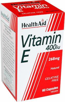 Health Aid Vitamin E 400iu 60 φυτικές κάψουλες 1Τεμάχιο