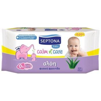 Septona Calm n Care Baby Μωρομάντηλα Με Αλόη 3x57 τμχ
