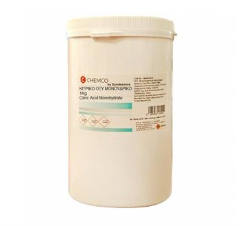 Chemco Citric Acid Κιτρικό Οξύ Μονοϋδρικό 1000gr
